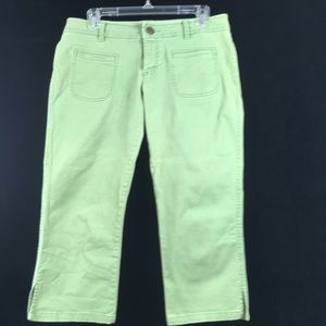 American Eagle Green stretch capris size 8